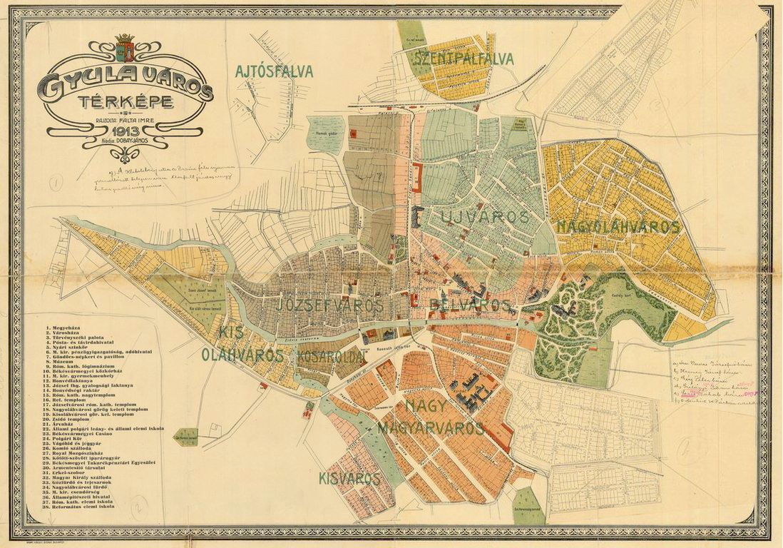 térkép gyula Térkép   GYULA ANNO térkép gyula