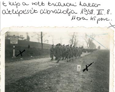 Felvidék - a trianoni határ átlépése 1938