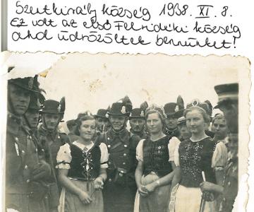 Felvidék - Szentkirály község - az első köszöntése a katonáknak 1938