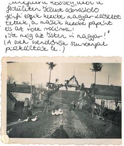 Felvidék -  Sánkfalva - diadalkapu 1938