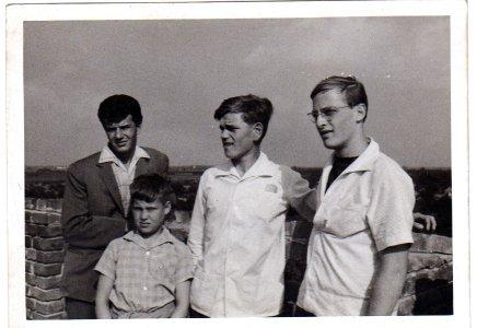 Hraskó Péter, Kecskeméti Zoltán, Benkő Benedek és Badura József - 1962