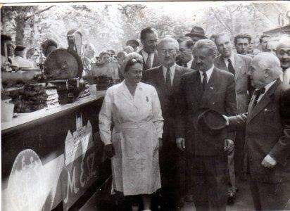 Tildy Zoltán köztársasági elnök és Stéberl Andrásné - 1947