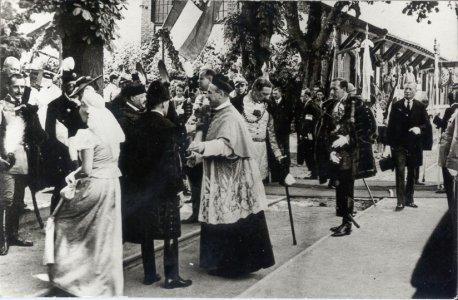 Apor Vilmos a Szent Jobb gyulai fogadásán - 1938