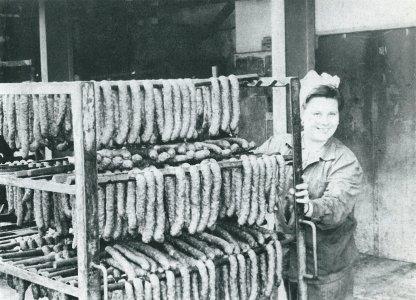 A már akkor is méltán híres Gyulai kolbász - 1960-as évek