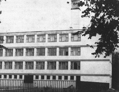 Az Erkel Gimnázium épülete - 1960-as évek
