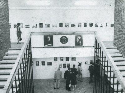 A múzeum kiállítási csarnoka - 1960-as évek