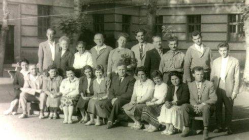3. sz. Általános Iskola tanárai az 1950-60-as években