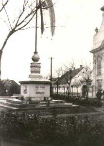 Ország zászló Gyulán - 1940-es évek