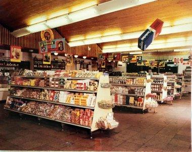 Szupermarket belső fotó - 1970-es évek