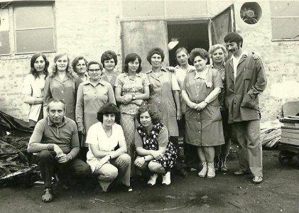 Budapesti Bútoripari Vállalat dolgozói - 1960-as évek